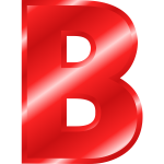 Glossy letter ''B''
