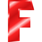 Red ''F'' letter
