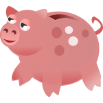 Piggy Bank Vector Art