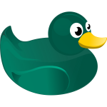 Rubber duck vector drawing