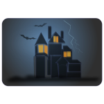 House of ghosts vector image