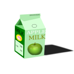 Vector clip art of apple milk carton