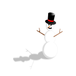Snowman with hat vector image