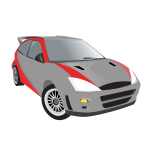 Vector illustration of sport car
