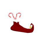 Elf boot vector image