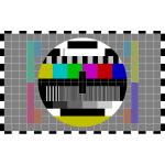 TV test screen vector illustration