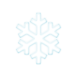 Vector graphics of pale blue snowflake symbol