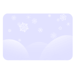 Winter vector landscape
