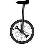Unicycle clip art graphics