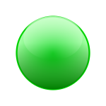 Round green button