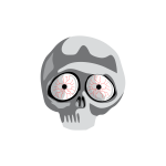 Vector clip art of scared skull