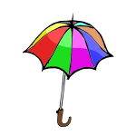 Vector illustration of an umbrella