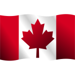 Canadian waving flag vector clip art