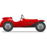Vintage race car vector illustration