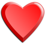 Vector image of thick red heart icon