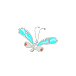 Cartoon vector image of butterfly