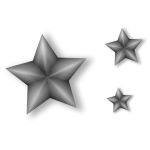 Metal Stars Vector Art