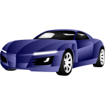 Vector illustration of blue sports car