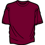 Purple t-shirt vector image