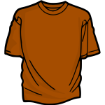 Orange t-shirt vector clip art