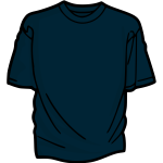 Dark bluet-shirt vector drawing
