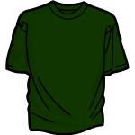 Dark green t-shirt vector illustration