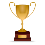 Racing trophy vector illustration