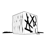 Vector image of cube house