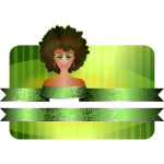 Afro girl border vector illustration