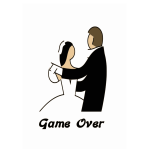 Marriage game over vector illustration