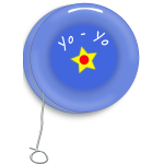 An early version of the yo-yo toy vector image