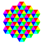 triangle tessellation 6 color