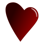 Red heart with reflection vector image