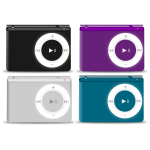 Colorful music players vector graphics