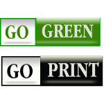 Go green bars vector image