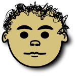 Vector image of curly hair kid avatar