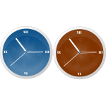 Modern clocks vector graphics