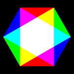 Colorful hexagon vector image