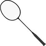 Badminton racket (with strings)