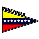 Venezuelan flag triangular sticker vector image