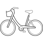 Bicycle vector outline