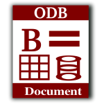 ODB document database computer icon vector image