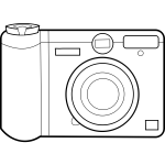 digital camera line art vector graphics
