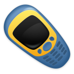 Vector image of retro cellphone