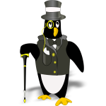 Penguin in tux