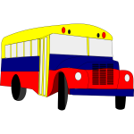 Vector image of chiva bus