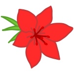 Image of blooming red flower