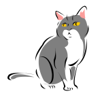 Cat vector drawing