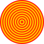 Round target with 48 circles