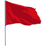 Wavy red flag vector